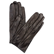 Buy Aquascutum Keats Leather Driving Gloves, Black Online at johnlewis.com
