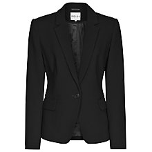 Buy Reiss Lillian Structured Tailored Blazer, Black Online at johnlewis.com