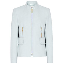 Buy Reiss Orchid Wool Blend Zip Detail Jacket, Grey Online at johnlewis.com