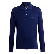 Buy Armani Jeans Long Sleeve Polo Shirt, Navy Online at johnlewis.com