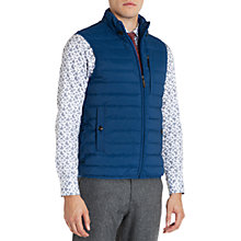 Buy Ted Baker Warmy Quilted Down Gilet, Blue Online at johnlewis.com
