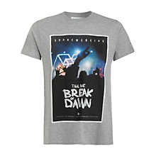 Buy Supremebeing Breaker Print T-Shirt, Grey Online at johnlewis.com
