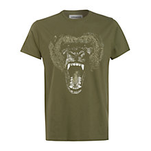 Buy Supremebeing Gorilla Print T-Shirt, Green Online at johnlewis.com