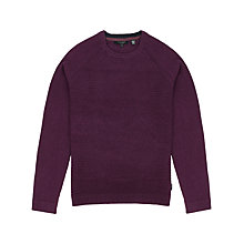 Buy Ted Baker Crewe Basket Stitch Jumper, Purple Online at johnlewis.com