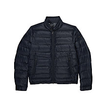 Buy Hackett London Coniston Lightweight Down Jacket, Navy Online at johnlewis.com