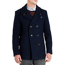 Buy Ted Baker Nojorah Double Breasted Peacoat, Navy Online at johnlewis.com