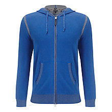 Buy Armani Jeans Full Zip Cotton Hoodie, Blue Online at johnlewis.com