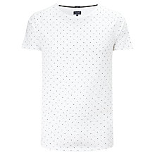 Buy Armani Jeans Fantasia Crew Neck T-Shirt, White Online at johnlewis.com