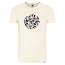 Buy Pretty Green Plectrum Logo T-Shirt, Light Stone Online at johnlewis.com