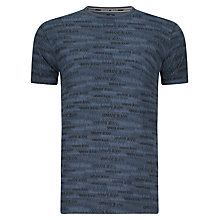 Buy Armani Jeans All-Over Logo T-Shirt, Navy Online at johnlewis.com