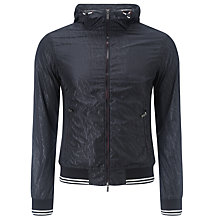 Buy Armani Jeans Fantasia Sports Jacket, Black Online at johnlewis.com
