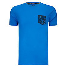 Buy Armani Jeans Pocket Logo T-Shirt, Blue Online at johnlewis.com