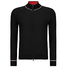 Buy Armani Jeans Full Zip Cotton Jumper, Navy Online at johnlewis.com