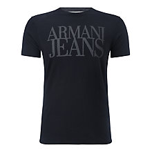 Buy Armani Jeans Core Logo T-Shirt, Navy Online at johnlewis.com