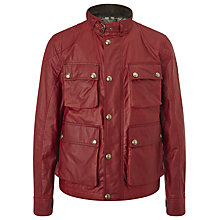 Buy Belstaff Burgess Waxed Jacket, Red Online at johnlewis.com