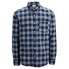 Buy Selected Homme Drake Check Long Sleeve Shirt, Blue Online at johnlewis.com