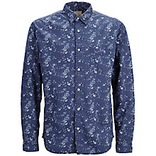 Buy Selected Homme One Saint Print Slim Fit Shirt, Dark Blue Online at johnlewis.com