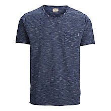 Buy Selected Homme Chris Cotton T-Shirt, Blue/White Online at johnlewis.com