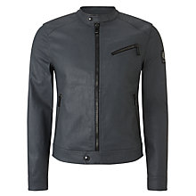 Buy Belstaff Tunstall Bomber Jacket, Grey Online at johnlewis.com