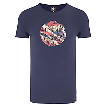 Buy Pretty Green Union Jack T-Shirt, Navy Online at johnlewis.com