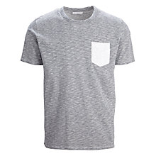 Buy Selected Homme Indiana Crew Neck T-Shirt, Grey Online at johnlewis.com