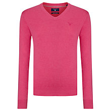 Buy Gant Lightweight V-Neck Cotton Jumper Online at johnlewis.com