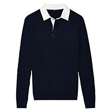 Buy Gant Cable Knit Rugby Jumper Online at johnlewis.com