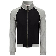 Buy Armani Jeans Bicolore Zip-Up Jersey Top, Grey/Black Online at johnlewis.com