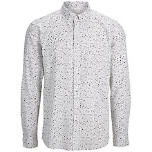 Buy Seleted Homme One Shea Printed Shirt, Bright White Online at johnlewis.com