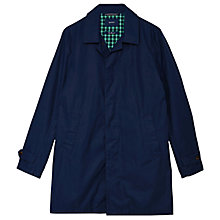 Buy Gant Cotton Raincoat Mac, Classic Blue Online at johnlewis.com