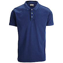 Buy Selected Homme Regular Fit Cotton Polo Shirt, Mazarine Blue Online at johnlewis.com