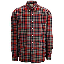 Buy Selected Homme One Drive Check Shirt, Grey/Red Online at johnlewis.com