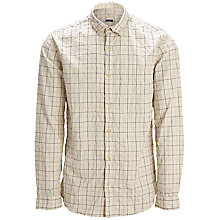 Buy Selected Homme One Sea Check Shirt, Marshmallow Online at johnlewis.com