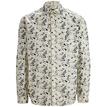 Buy Selected Homme One Saint Printed Slim Fit Shirt, Marshmallow Online at johnlewis.com