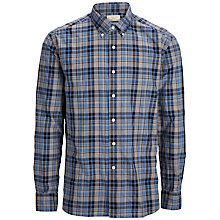Buy Selected Homme One Drive Check Shirt, Blue/White Online at johnlewis.com