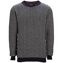 Buy Selected Homme Rock Crew Neck Jumper, Mood Indigo Online at johnlewis.com