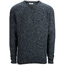 Buy Selected Homme Mason Crew Neck Cotton Jumper, Air Blue Online at johnlewis.com