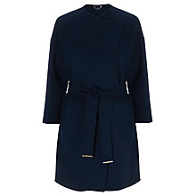 Buy Marella Giro Double Faced Wool Blend Coat, Navy Online at johnlewis.com