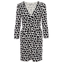 Buy Marella Nessos Leaf Wrap Dress, Black Online at johnlewis.com