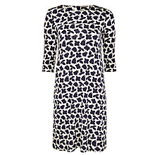 Buy Marella Polis Leaf Print Jersey Dress, Navy/White Online at johnlewis.com