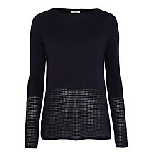 Buy Marella Sila Perforated Hem Jumper, Midnight Blue Online at johnlewis.com