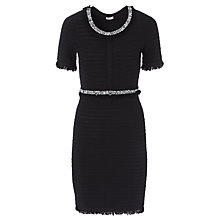 Buy Marella Radar Embellished Rib Dress, Black Online at johnlewis.com