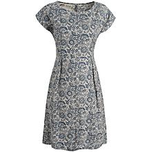 Buy Seasalt Quay Cellars Dress, Lino Flower Driftwood Online at johnlewis.com
