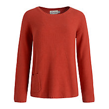 Buy Seasalt Moss Stitch Jumper, Tomato Online at johnlewis.com