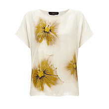 Buy Weekend by MaxMara Borel Tee, White/Ochre Online at johnlewis.com