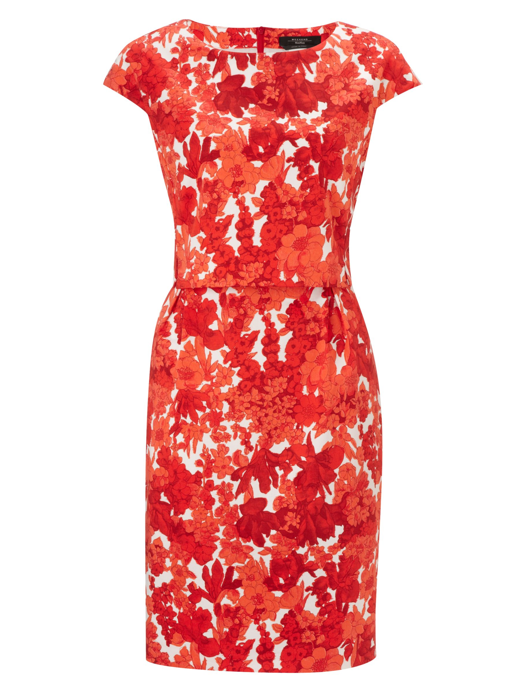 weekend by maxmara floral two layer dress red, weekend, maxmara, floral, two, layer, dress, red, weekend by maxmara, 8|10|12|14|16, women, womens dresses, gifts, wedding, wedding clothing, female guests, inactive womenswear, outfit ideas, 1771905
