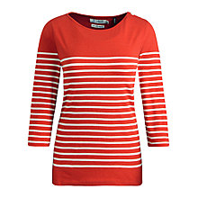 Buy Seasalt Rosehill Cotton Top, Cabotage Tomato Online at johnlewis.com