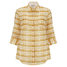 Buy Weekend by MaxMara Chevron Print Shirt, Yellow Online at johnlewis.com