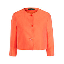 Buy Weekend by MaxMara Linen Silk Jacket, Red Online at johnlewis.com