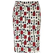 Buy Weekend by MaxMara Paint Brush Skirt, White Online at johnlewis.com